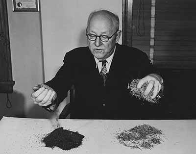 Hugh Hammond Bennett with soil samples