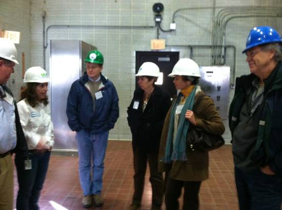 Members touring the plant