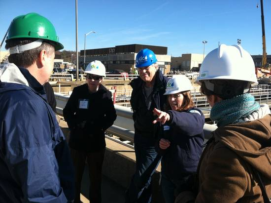 Members touring the Blue Plains Wastewater Treatment Plan