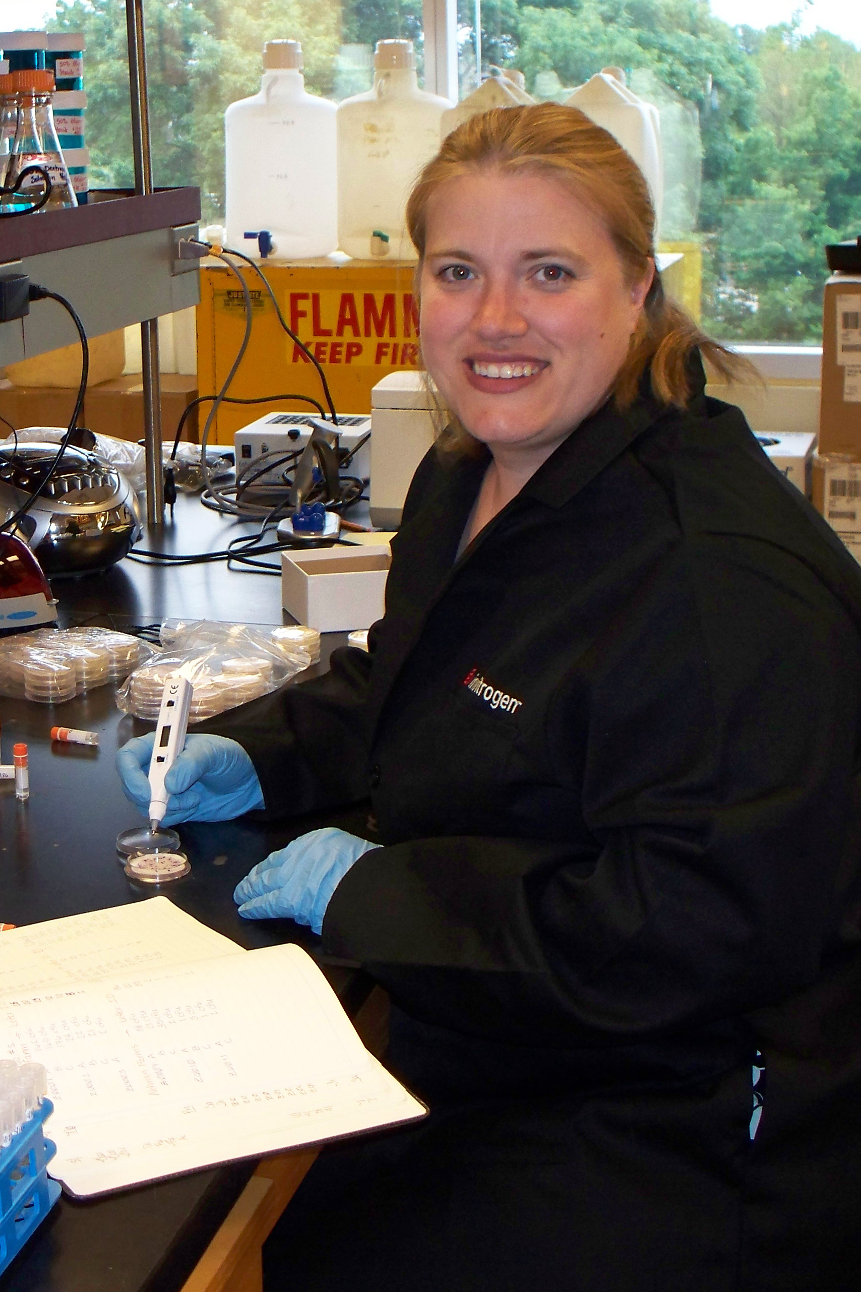 Photo of woman at lab bench