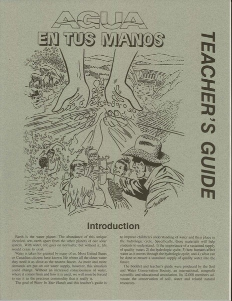 Cover of Water in Your Hands-Teacher's Spanish Guide
