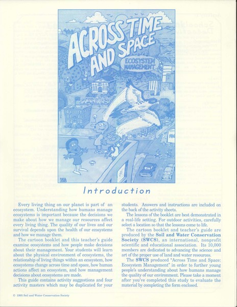 Cover of Across Time and Space-Teacher's Guide
