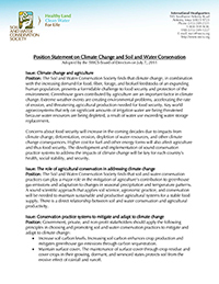 Image of climate change position statement document